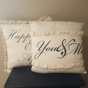 Burlap Decorative Accent Throw Pillows